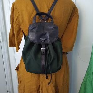 Prada mini backpack Tessuto Nylon leather book bag